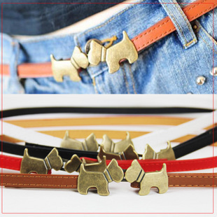 Magazine recommended buckle adjust PU strap decoration belt female(China (Mainland))
