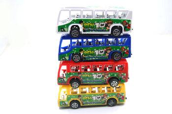 free shipping 2013 hot sale Toy car model 10cm mini bus bus 4 100g