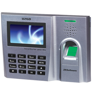 Work Time Attendance Record Machine Zk software u260 intelligent fingerprint attendance machine work time record device(China (Mainland))