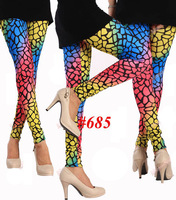 2013 Women's colorful Leopard Print Rock Punk Funky Sexy Leggings  Pants #685