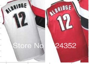 free shipping top quality nba basketball jerseys Blazers LaMarcus Aldridge no.12 customize name number team logo home away(China (Mainland))