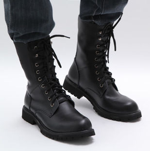 2013 spring the trend of male high boots martin boots cowhide tooling boots man