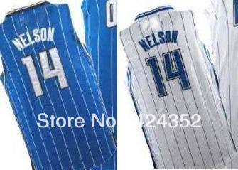 free shipping top quality mens basketball jerseys Orlando Jameer Nelson no.14 customize name number team logo home away