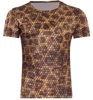 Men's Snake skin 3D T-Shirt ,Punk Three D Short Sleeve Tee Shirt S-6XL,B63,Funny Sport Slim T Shirt, Plus Size