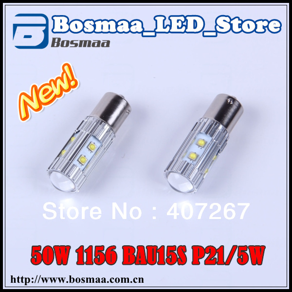 Free shipping 2x original design 1156 BAU15S P21-5W 50W LED Car Reverse / Backup Light Bulbs with Original Cree Chips(China (Mainland))