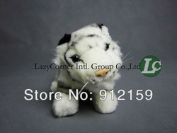 Wholesale 20pcs New Arrival Stuffed animal tiger plush toy emulation little Tiger home accessories car accessories free shipping(China (Mainland))