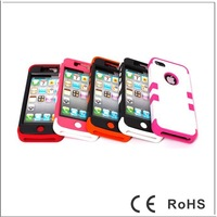 Free shipping ,New Design Hard Back Silicon Cover Shockproof Protector Case for iphone 5