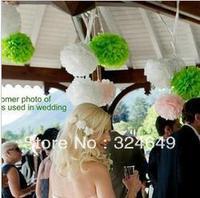 "New 100Pcs 4"" Tissue Paper Pom Pom Mix Color Flower Balls Party Wedding Deco"