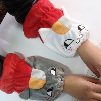 Cat cartoon short-sleeve set raglan sleeve arm sleeve 5