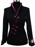 Black  Fashion Chinese tradition Ladies Jacket Coat Outerwear Tang suit Size S M L XL XXL XXXL 4XL 5XL 6XL Free shipping