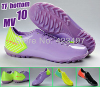 Free shipping top quality bottom of TF nail outdoor MV10 soccer shoes include 3 colors in US size 6.5-11