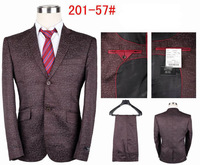 High quality men's fashion linen business suit handsome brand wedding suit
