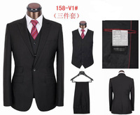 Hot sale men's fashion business suit handsome wedding suit (coat+pants+vest)S-4XL