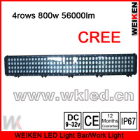 IP67 4ROWS super bright CREE XP-G 5w led 52'' 800w 56000lumen off road ATV UTV SUV led light bar