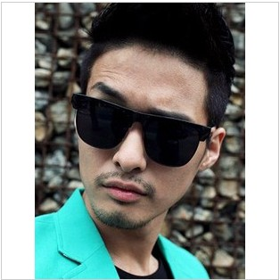 Free shipping 2013 cool box metal large frame sunglasses sun glasses sun-shading mirror Men