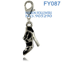 Free Shipping Fashion Jewelry Bracelets & Necklace High Heels Alloy Lucky Charm With Lobster Clasp Free Shipping FY087