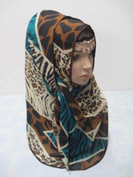 The Muslim headscarf covering  new canvas cotton hang spike convenient a covering
