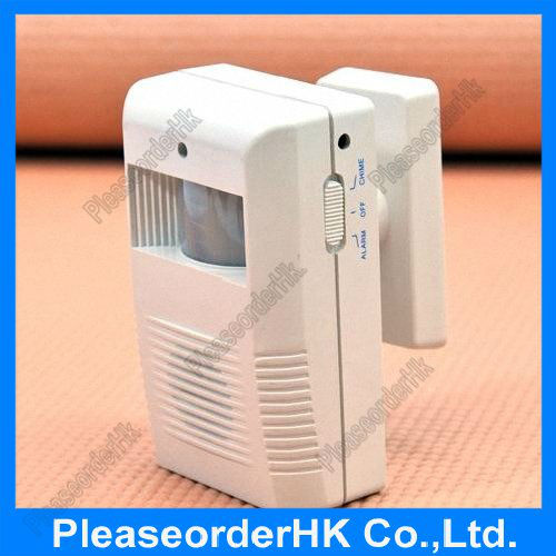 Two In One Sensor Welcome Alarm Infrared ABS And Electronic Components Free Shipping(China (Mainland))
