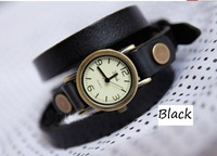 Genuine leather vintage table roman dial unisex table genuine leather watchband spirally-wound watches 7