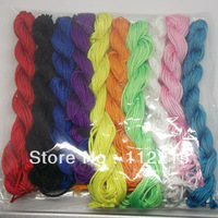 freeshipping 10 pc mix color 1mm diy accessories    nylon  Line   fit shamballa bracelets