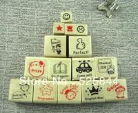 Freeshipping! 15pcs/set / schoolteacher Wood stamp Set/DIY funny/