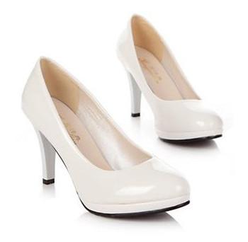 2013 single shoes women's platform shoes black white work shoes bridal shoes red