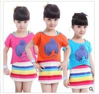 Girls summer 2014 new Korean children's skirt girls' suits, the skirt 596