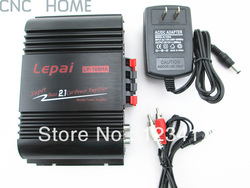 NEW Lepai LP-168HA HiFi 2.1 Super Bass Car Amplifier Stereo Amp With Power Adapter and Audio Cable Free Shipping(China (Mainland))