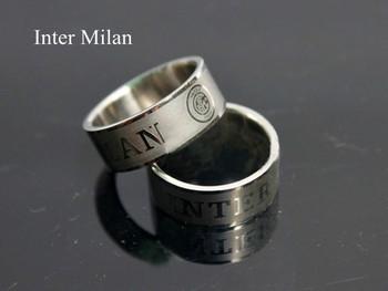 ~~Men's Football Fans Profile Ring Biker Band Punk Stainless Steel Ring Charm Gift Free Shipping ~AC Milan    Arsenal