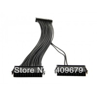 100pcs/lot Dual PSU Power Supply 24-Pin Motherboard Adapter Cable