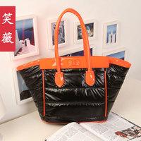 2013 spring bag black all-match down big bag one shoulder handbag female bags women's bag