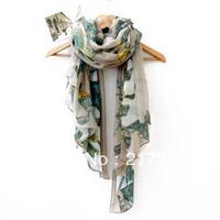 Free Shipping! women's fashion dot printed scarves autumn and winter 100% cotton voile pashmina!