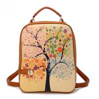 Fashion Women Back-pack Hot Selling Women Printing Handbag Trendy Female Shoulder Bag Student Bag Free Shipping