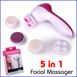 5 in 1 Electric Wash Face Machine Facial Pore Cleaner Body Cleaning Massage Mini Skin Beauty Massager Brush Free Shipping(China (Mainland))