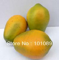 Hand-made plastic papaya for home decor
