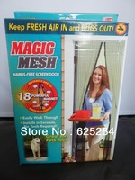 Free shipping Magic Mesh Hands-Free Screen Door Curtain Fly Screen Door Curtain Mosquito Bug Divider Curtain on TV