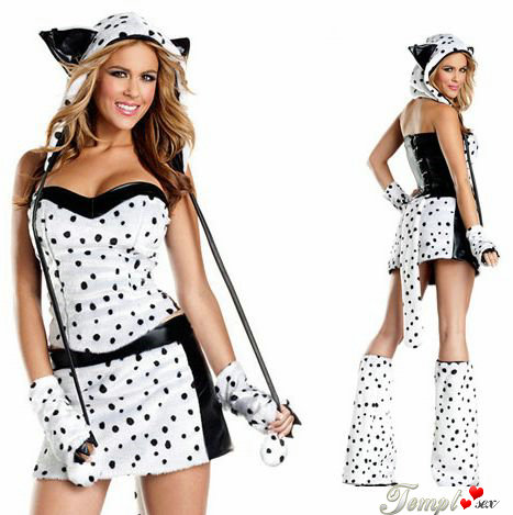 The spotted leopard tiger loading / Snow Leopard Catwoman suit / RPG clothing / Halloween game uniforms(China (Mainland))
