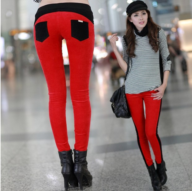 Fashion New Korean Straight All-Match Slim Casual Montage Thin Corduroy Pants(China (Mainland))