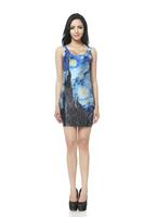 FREE SHIPPING Skirts Women 2013 Fashion Walker TQ017 High Flexible Galaxy Printed Slim Vest Skirts Plus Size  Wholesale