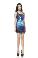 FREE SHIPPING Skirts Women 2013 Fashion Walker TQ018 High Flexible Galaxy Printed Slim Vest Skirts Plus Size  Wholesale