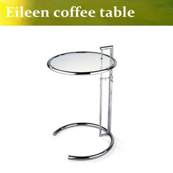 Eileen Gray Side Table with Tempered Glass Top,Eileen Gray End Table,glass side table,modern tea talbe(China (Mainland))