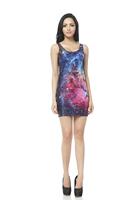 FREE SHIPPING Skirts Women 2013 Fashion Walker TQ014 High Flexible Galaxy Printed Slim Vest Skirts Plus Size  Wholesale