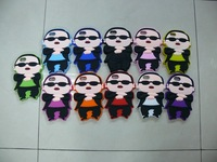 Free Shipping 11 Colors Soft Surface Cover PSY GangNam Style Silicone Case for iPhone 5