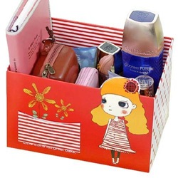 Homemade small pocket desktop storage box finishing box little girl home(China (Mainland))
