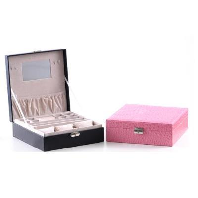 European jewelry box leather cosmetic box Multi-purpose jewelry boxes watches receive case 26*26*8.8CM free shipping(China (Mainland))