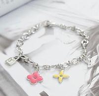 (Minimum order is $10)3024 four leaf grass lock multi-element bracelet