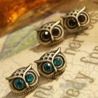 (Mnimum mix order is 10 usd ) vintage owl earrings ! jewery wholesale high quality !Free shipping! E2006