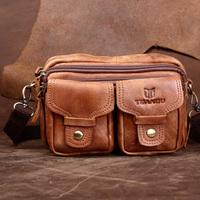 New Star Bags Vintage genuine leather cowhide men waist sports bags Tactical outdoor travle belt wallets