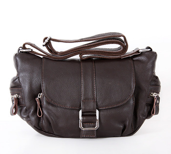 Papola platinum genuine leather women's messenger bag flip all-match genuine leather female bags