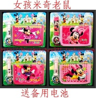 Minnie cartoon wallet watches children watch Students Fashion watches Kids purse Watch Cartoon watch